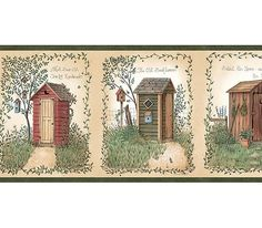 Country Outhouse Bathroom Decorative Wall Hooks | Outhouse Bath ...