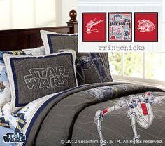 Empire Strikes Back Star Wars Pottery Barn Decor by PrintChicks, $47.00
