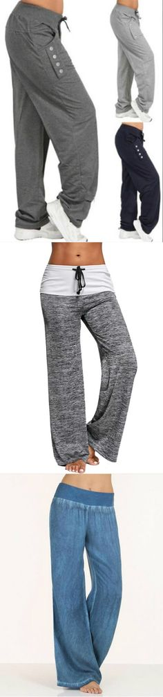 Hot Sale!Casual High Waist Oversized Loose Leggings Sports Pants