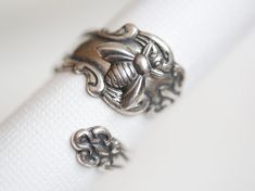 Antique Spoon Ring, Silver Bee Ring, Silver Spoon Ring,Antique Ring,Silver Ring,Wrapped,Adjustable,Bridesmaid. on Etsy, $23.99