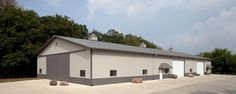 Farm Building Profile Use: Machine shed for agricultrual equipment Size: 66' x 152' x 16' post-frame storage shed Building Color: Ash gray Roof Color & Designer Wall Color: Charcoal