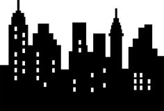 Wallmonkeys Abstract City Silhouette Black on White Isolated Peel and Stick Wall Decals in W x 18 in H) Batman City, Superhero City, Gotham City, Superhero Room, Lego Batman, Book Silhouette, Skyline Silhouette, Building Silhouette, Batman Birthday