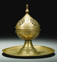 Brass incence burner Deccan.. 16 th century..