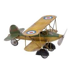 Metal Bi-Plane Decorative Accent - Free Shipping Today - Overstock.com - 15896128 - Mobile