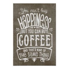Coffee Lover's Vintage Style Poster
