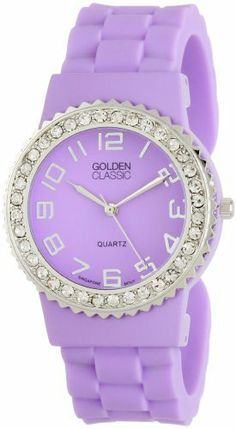 "Golden Classic Women's 2301-purple ""Bangle Jelly"" Rhinestone Silicone Watch Golden Classic. Save 45 Off!. $23.10"