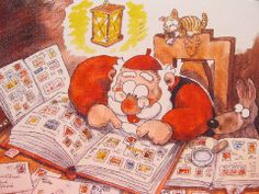 From my favorite holiday book Noel Christmas, Christmas Books, Christmas Morning, Christmas Cards, Good Morning Sunshine, Favorite Holiday, Gnomes, Finland, Thank You Cards