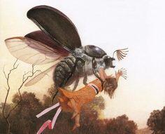 Illustration by Nadezhda Illarionova (Russian) for Thumbelina by Hans Christian Andersen