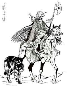 """Ottoman soldier called """"deli"""""""