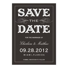 BLACK VINTAGE | SAVE THE DATE ANNOUNCEMENT