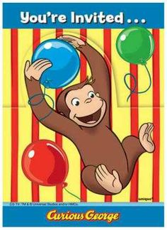 Find your Curious George party supplies, Curious George party favors, Curious George birthday decorations, Curious George party invitations, and more. Curious George Party Supplies, Curious George Invitations, Online Party Supplies, Kids Party Supplies, Curious George Birthday, Birthday Supplies, 8th Birthday, Birthday Ideas, Monkey Birthday