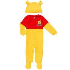 2 Piece Winnie the Pooh Footie and Hat Set