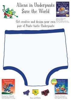 Aliens Love Under Pants Template | Design Aliens in Underpants Save the World underpants