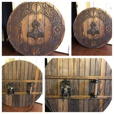 Viking Shield Design, Wood Projects, Woodworking Projects, Viking Axe, Viking Beard, Viking Dragon, Viking Designs, Viking Clothing, Vegvisir
