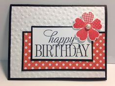 """I wanted to play with my new """"Happy Birthday, Everyone"""" stamp set. I didn't want to make those super large """"Happy Birthday"""" words be the..."""