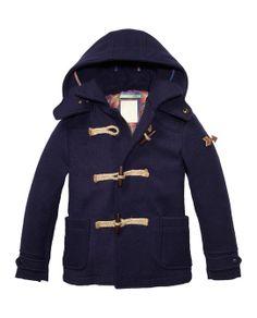 Hooded Woollen Toggle Jacket > Kids Clothing > Boys > Jackets at Scotch Shrunk
