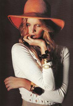 Orange felt hat
