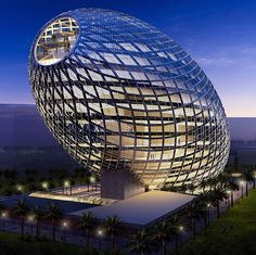The Egg office building in Mumbai, India. Indian developers Vijay Associates have commissioned James Law Cybertecture to create this 13 floor office building in Mumbai's new Central Business District. It is set to be complete in late Unusual Buildings, Interesting Buildings, Amazing Buildings, Modern Buildings, Office Buildings, Modern Houses, Architecture Unique, Futuristic Architecture, Futuristic Design