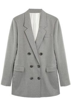 #ROMWE Double-breasted Grey Blazer