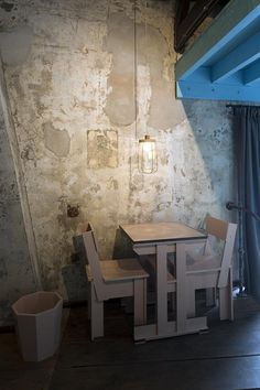 Westergas hotel room by Piet Hein Eek; interior for a very special hotel room in Amsterdam Photography by Thomas Mayer
