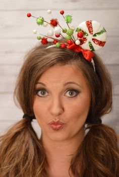 Ugly Christmas Sweater Women - Tacky Christmas Sweater Party - Ugly Christmas Sweater - Christmas Headband Adult - Whoville Headband by LaurenLashDesignsLLC on Etsy https://www.etsy.com/listing/254054327/ugly-christmas-sweater-women-tacky