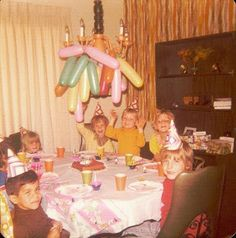 Birthday parties were just like this... No big deal, just a party at the kitchen table. Much simpler and cheaper!