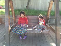 Children's fashion.Sisters