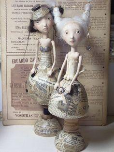 Petite Couture art dolls by Gerda Schaarman Rijsdijk