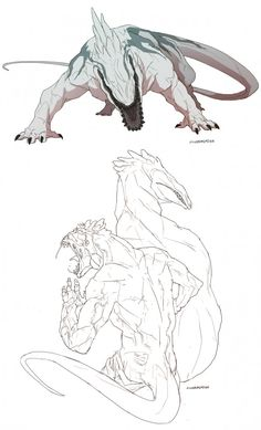 This great beast is called a Fonias. The are powerful deadly creatures and the most feared of all with razor teeth, claws and thick skin. The Fonias is feared by all beasts and are the size of a elephant. They hunt alone. Very very hard to tame Monster Concept Art, Fantasy Monster, Monster Art, Alien Creatures, Mythical Creatures, Deadly Creatures, Creature Feature, Creature Design, Fantasy Beasts