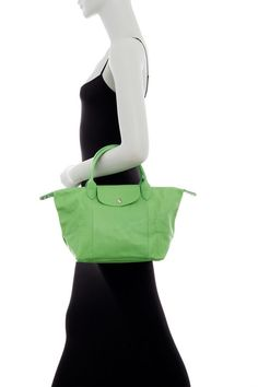 c1790a0cf88d Longchamp Le Pliage Cuir Small Leather Tote Bag - Green Made in France