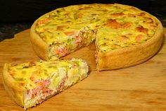 Salmon quiche, a popular recipe from the Party category. Ratings: Average: Ø Salmon quiche, a popular recipe from the Party category. Ratings: Average: Ø Quiche Recipes, Tart Recipes, Salmon Recipes, Brunch Recipes, Fish Recipes, Party Finger Foods, Snacks Für Party, Meat Appetizers, Appetizers For Party