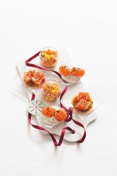 Mises en bouche autour du saumon