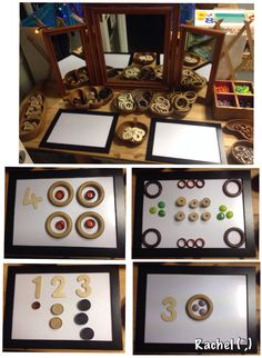 """Counting with loose parts from Rachel ("""",)"""