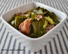 Collard or Turnip Greens with Smoked Turkey from Hot Eats and Cool Reads
