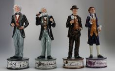 Collectors & General Auction – Lot 574 – Royal Doulton limited edition Prestige figures from the Pioneers collection to include Michael Faraday HN 5196, Alexander Graham Bell HN 5052, Thomas Edison HN 5241 (All Boxed with Certificates).  Sale Price £260.00.