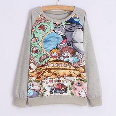 My Neighbor Totoro Gray Sweatshirt
