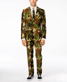 OppoSuits Commando Slim-Fit Suit & Tie