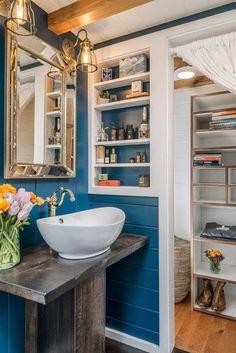 Tiny house bathroom in the Escher Tiny Home