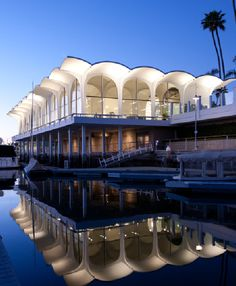 modernist waterfront structure in Newport Beach, CA