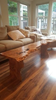 This stunning Big leaf maple has incredible markings and movement. It measures approximately 60 inches by 16 inches by 17 inches in height Add this to your living or family room as your signature piece. Live Edge Furniture, Walnut Furniture, Timber Furniture, Iron Furniture, Fine Furniture, Rustic Furniture, Furniture Ideas, Live Edge Wood, Live Edge Table