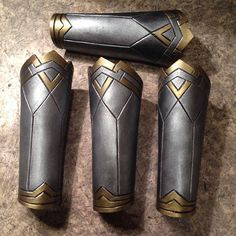 Wonder Woman Bracers! Items cosplay costume from the movie the kit includes (2 elements): - 2 Bracers ( long is almost 10 inch)  see full wonder woman costume here! https://www.etsy.com/listing/545100415/  Material: Eva Foam 5 mm Fixation method: elastic band and will fit almost any size  This set with free shipping! (10-14) days  if the goods are not in stock, manufacturing time 7-10 days. email me! Ask any question to me in private messages