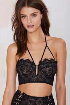 SKIVVIES Wanted and Wild Longline Lace Bra
