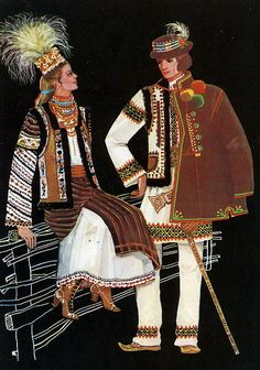 Traditional Costume Ukraine. Bykovine Украинский национальный костюм.  Западная Украина, Буковина