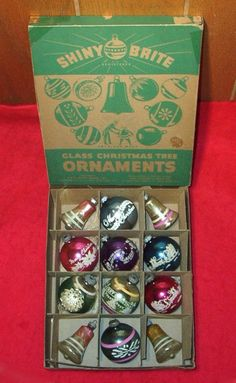 Shiny Brite Ornaments--American made from 1940s to 1960s