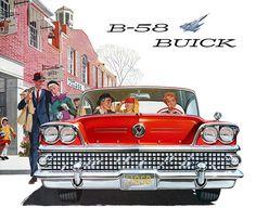 Plan59 :: Classic Car Art :: Vintage Ads :: 1958 Buick