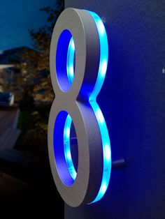 Cool Large Steel House Number With LED : Giving Charming Exterior Touch For  Your House With Part 95