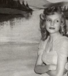 Joni Mitchell as a teenager. I love her music. Her writing, her voice and her style.