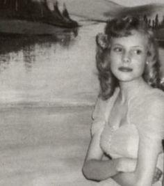 Joni Mitchell as a teenager