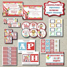Hey, I found this really awesome Etsy listing at http://www.etsy.com/listing/87287043/printable-circus-carnival-party-package