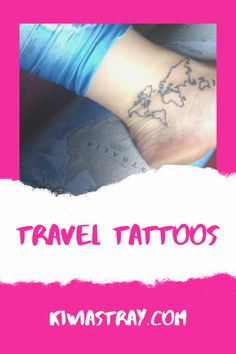 Travel Tattoos for those with a travel addiction higher then the average Travel Tattoos, Inspire Others, Travel Inspiration, Tattoo Quotes, Travel Tips, Addiction, Motivational, Inspirational, Life